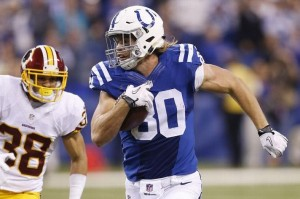 fantasy review Coby Fleener x redskins